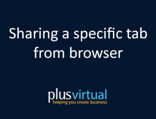 Sharing a specific tab from browser